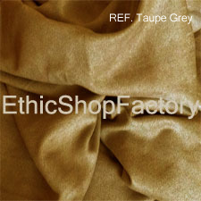 Suede Fabric Taupe Grey