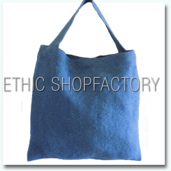 Lalita Washed Jute Bag Blue
