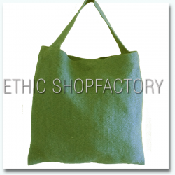 Lalita Washed Jute Bag Green