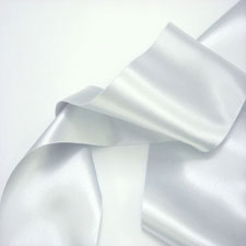 Satin Ribbon Pearl Grey